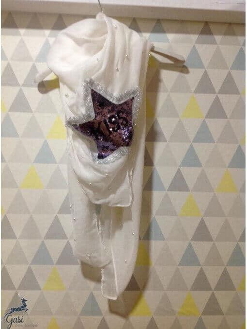 Foulard sequins réversibles étoile Accueil