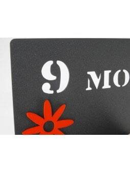 """Pêle-mêle """"9 mois pour te créer, l'éternité pour t'aimer"""" fleurs Pêle-mêles"""