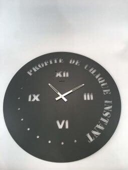 "Horloge ronde diamètre 90 cm  ""Profite de chaque instant"" Horloges"