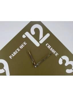 """Horloge carrée """"Parce que chaque minute compte"""" Horloges"""