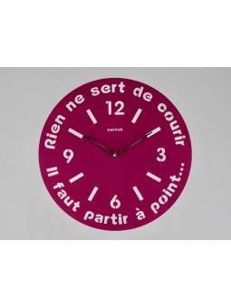 "Horloge ronde diamètre 40 cm  ""Rien ne sert de courir"" Horloges"