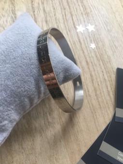 """""""La vie donne toujours une deuxième chance"""" Bracelet métal texte"""