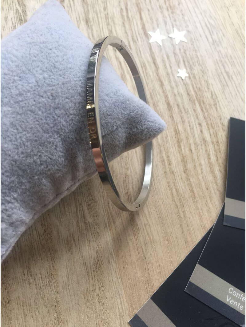 """""""Mamie en or"""" Bracelet métal texte"""