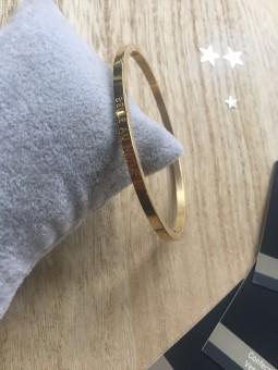 """""""Belle au naturel"""" Bracelet métal texte"""