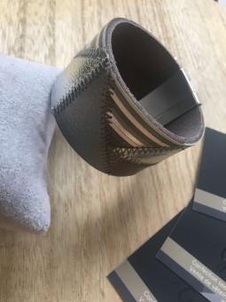 Manchette patchwork grise