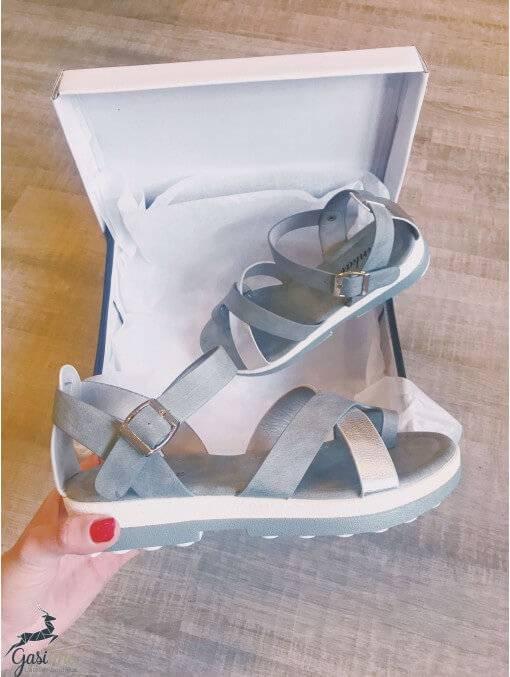 Sandales grises