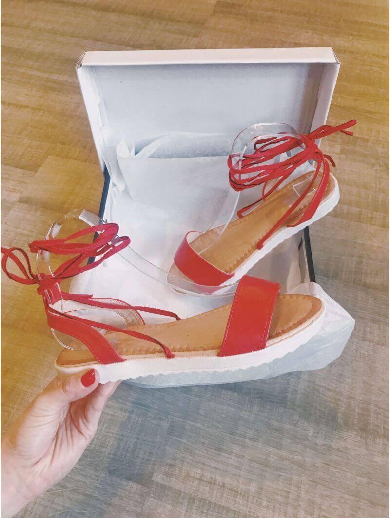 Sandales synthétique lacées