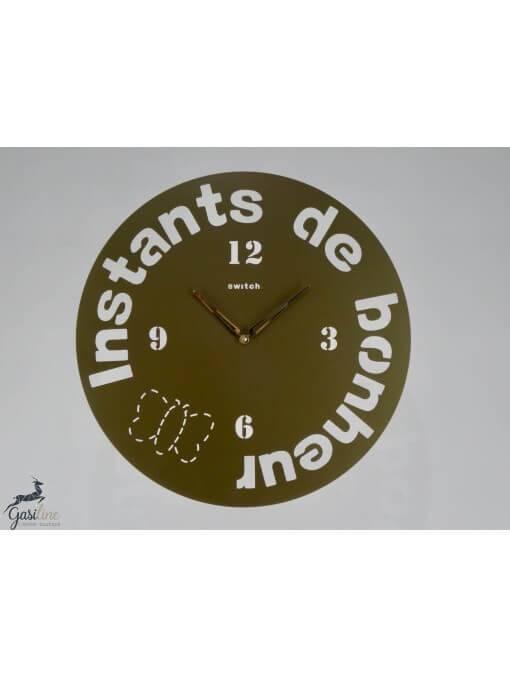 """Horloge ronde diamètre 46 cm  """"Instants de bonheur"""" Horloges"""
