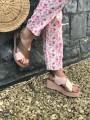 Sandales compensées vieux rose Sandales
